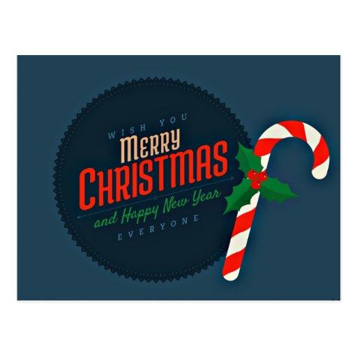 Frohe Weihnacht-Wünsche Postkarten