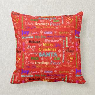 Frohe Weihnacht-Wurfs-Kissen für Kinderraum