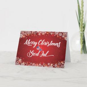 Frohe Weihnachten Norwegisch.Wikinger Weihnachten Karten Zazzle De