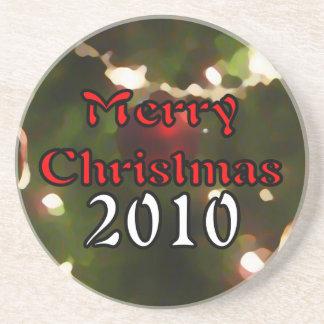 Frohe Weihnachten 2010 Bierdeckel