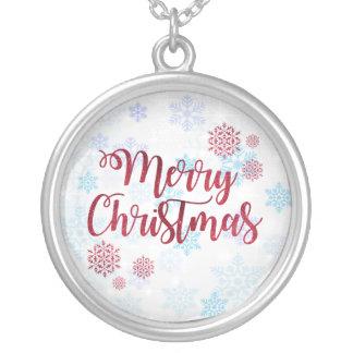 Frohe Weihnachten 2 Versilberte Kette