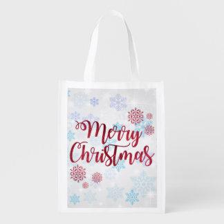 Frohe Weihnachten 2 Wiederverwendbare Einkaufstasche