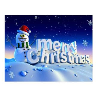frohe Weihnachten 3d und guten Rutsch ins Neue Postkarte