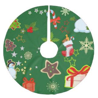 frohe Weihnachten 917 Polyester Weihnachtsbaumdecke