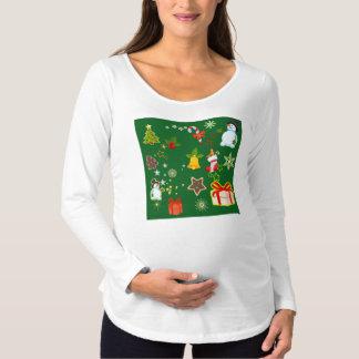frohe Weihnachten 917 Schwangerschafts T-Shirt