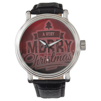 Frohe Weihnachten Armbanduhr