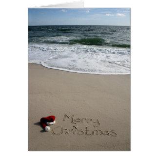 Frohe Weihnachten auf den Strand-OzeanStarfish Karte