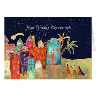 Frohe Weihnachten auf italienisch, Buon natale Karte