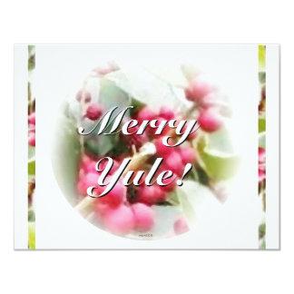 Frohe Weihnachten-Beeren-Sonnenwende-Weihnachten Individuelle Ankündigskarten