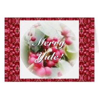 Frohe Weihnachten-Beeren-Sonnenwende-Weihnachten Grußkarte