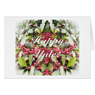 Frohe Weihnachten-Beeren-Sonnenwende-Weihnachten Karten