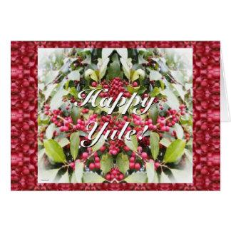 Frohe Weihnachten-Beeren-Sonnenwende-Weihnachten Karte