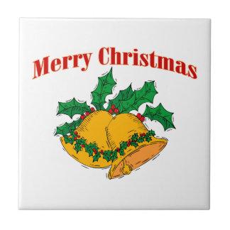 Frohe Weihnachten Bell Keramikfliese