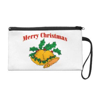 Frohe Weihnachten Bell Wristlet Handtasche