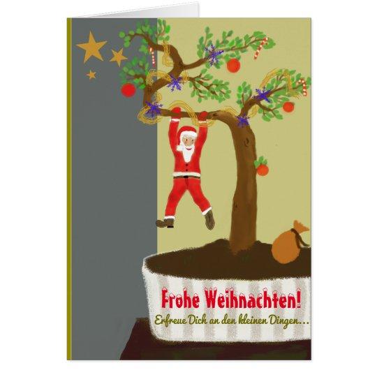 Frohe Weihnachten! Bonsai Weihnachtsmann Karte