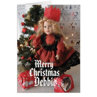Frohe Weihnachten Debbie Karte