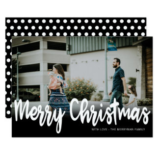 Frohe Weihnachten der Feiertags-Foto-Karten-  Karte