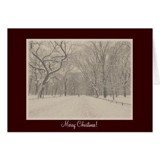 Frohe Weihnachten - der Weg-Winter des Central Karte