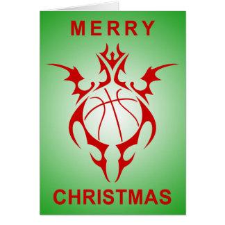 frohe Weihnachten des Stammes- Basketballs Karte
