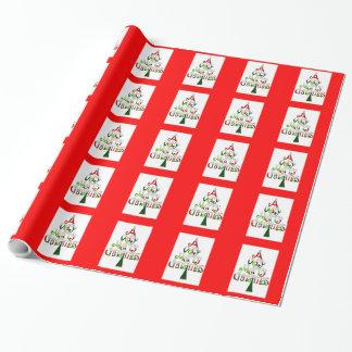 Frohe Weihnachten des WeihnachtsPackpapier-A sehr Geschenkpapier