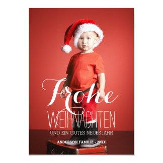 Frohe Weihnachten | deutsche Feiertags-Foto-Karte 12,7 X 17,8 Cm Einladungskarte