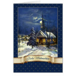 Frohe Weihnachten. Deutsche Weihnachtskarte Grußkarte