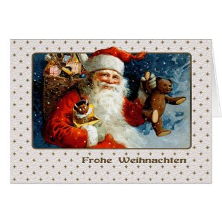 Frohe Weihnachten. Deutsche Weihnachtskarte Karte