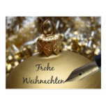 Frohe Weihnachten deutsche Weihnachtskarte Postkarten