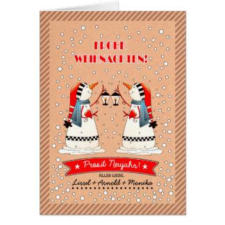 Frohe Weihnachten. Deutsche Weihnachtskarten Grußkarten