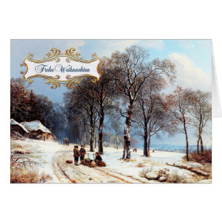 Frohe Weihnachten. Deutsche Weihnachtskarten Grußkarte