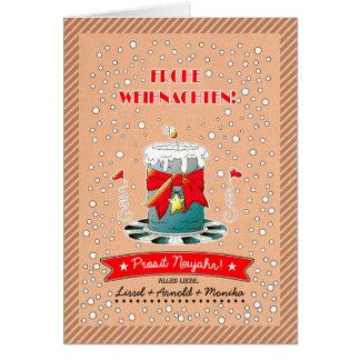 Frohe Weihnachten. Deutsche Weihnachtskarten Karte