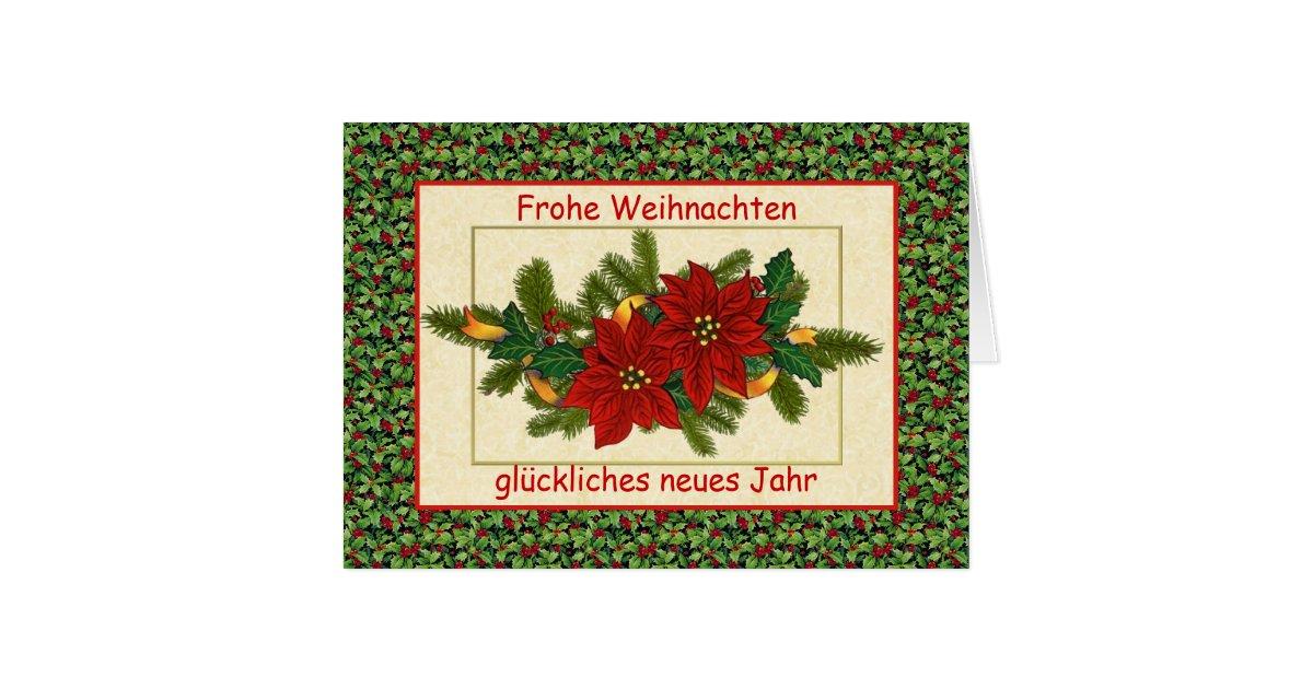 frohe weihnachten deutsches weihnachten karte zazzle. Black Bedroom Furniture Sets. Home Design Ideas