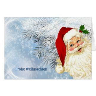 Frohe Weihnachten - deutsches Weihnachten Karte