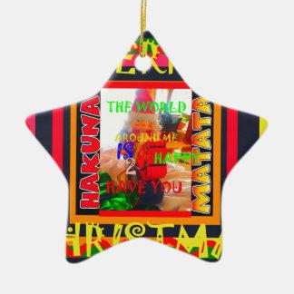 Frohe Weihnachten die Welt um mich sind zu ha Keramik Stern-Ornament