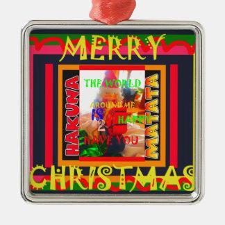 Frohe Weihnachten die Welt um mich sind zu ha Silbernes Ornament