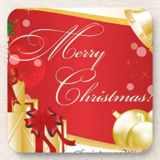 Frohe Weihnachten Drink Untersetzer