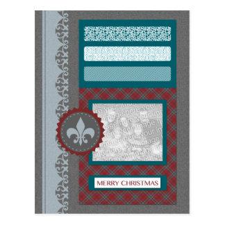 frohe Weihnachten (Einklebebuch) Postkarte