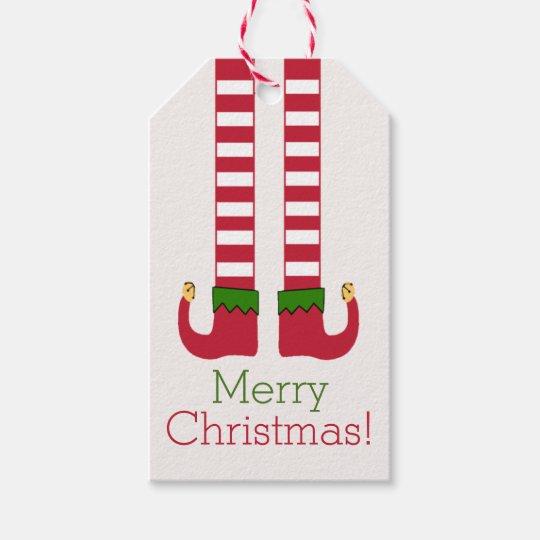 Geschenkanhänger Frohe Weihnachten.Frohe Weihnachten Elf Beine Personalisiert Geschenkanhänger