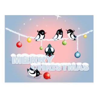 Frohe Weihnachten - Elster-Blasen-Schnee Postkarte