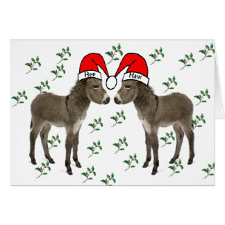 Frohe Weihnachten, Esel-Weihnachten Mitteilungskarte