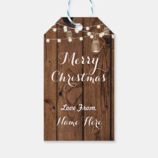 Frohe Weihnachten etikettieren fröhliche Geschenkanhänger