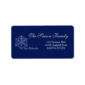 Frohe Weihnachten Feiertags-Adressen-Etikett Adressetiketten