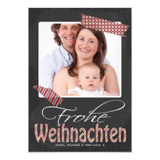 Frohe Weihnachten Foto-Rahmen und Imitat-Band 12,7 X 17,8 Cm Einladungskarte