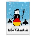 Frohe Weihnachten frohe Grußkarte