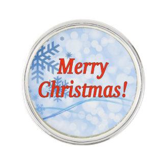 Frohe Weihnachten! Frohe Weihnachten auf englisch. Anstecknadel