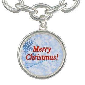 Frohe Weihnachten! Frohe Weihnachten auf englisch. Armband