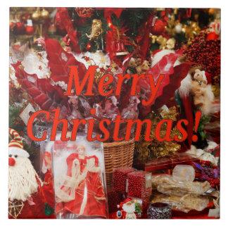 Frohe Weihnachten! Frohe Weihnachten auf englisch. Fliese