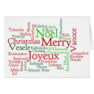 Frohe Weihnachten! Frohe Weihnachten im deutschen Grußkarte