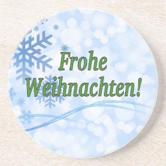 Frohe Weihnachten! Frohe Weihnachten im deutschen Getränke Untersetzer