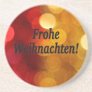 Frohe Weihnachten! Frohe Weihnachten in deutschem Bierdeckel